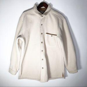 Sahalie Sherpa Shirt Jacket Large Elbow Patches